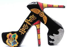 17 Gorgeous And Geeky Pairs Of High Heels. These bejeweled Hogwarts heels.