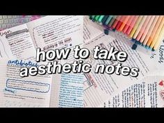 how to take aesthetic notes! how to take aesthetic notes! how to take aesthetic notes! how to tak Math Notes, Class Notes, School Notes, I School, Revision Notes, College Notes, College Bags, Pretty Notes, Good Notes
