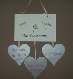 Our love story www.facebook.com/customisedbysharon www.customised-by-sharon.co.uk