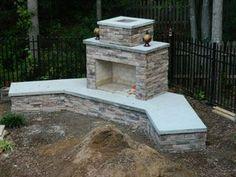 Backyard Fireplace Ideas Diy Outdoor Fire Pits 33 New Ideas Outside Fireplace, Backyard Fireplace, Backyard Patio, Backyard Landscaping, Diy Patio, Desert Backyard, Landscaping Ideas, Outdoor Rooms, Outdoor Living