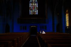 A quiet moment in the church post-ceremony