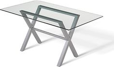 Amisco Andre Rectangular Glass Top Dining Table