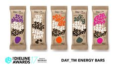 The Dieline Awards 2017 Outstanding Achievements: Day_TM Energy Bars — The Dieline | Packaging & Branding Design & Innovation News