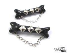 Bone Hair Clips  gothic hair clip  psychobilly by TocsinDesigns, $16.99 #bones #goth #psychobilly