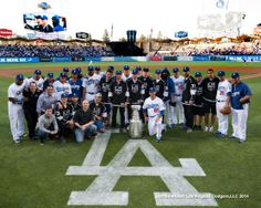 Dodgers Blue Heaven: Lord Stanley and the Kings Visited Dodger Stadium Yesterday dodger blue, blue heaven