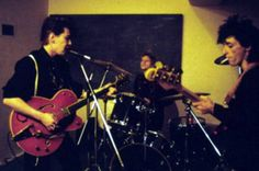 Johnny Thunders, Jerry Nolan with Jimmy Kurata at Denmark St. Studio in London, U.K. 1986