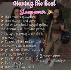Slumber party checklist for a successful sleepover Teen Sleepover, Fun Sleepover Ideas, Sleepover Activities, Birthday Party Ideas For Teens 13th, Best Friend Dates, Best Friends, Girl Life Hacks, Girls Life, Things To Do At A Sleepover