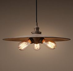 20Th C. Factory Filament Metal Shade | RH