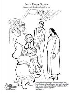 Knutselwerkje genezing verlamde man Bible craft Jesus