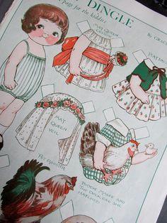 ❤‿❤ - Vintage Dolly Dingle Paper dolls
