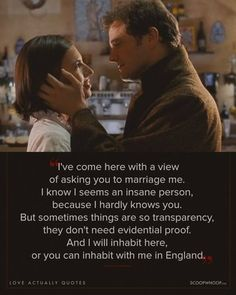 """With the """"Love Actually"""" sequel in the works here are 17 quotes to remind you of the magic from the original 2003 film. Love Actually Movie, Love Actually Quotes, Love Movie, Tv Show Quotes, Movie Quotes, True Quotes, Best Quotes, Movie Co, Film Movie"""