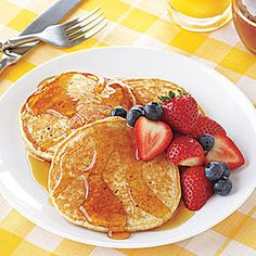 Multigrain Pancakes | MyRecipes.com
