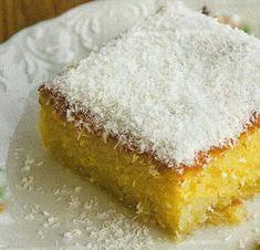 Κέικ σιροπιαστό με ινδοκάρυδο σκέτο άρωμα !!! Υλικά 1 κούπα ηλιέλαιο 1και 1/3 κούπας ζάχαρη 1 κούπα χυμό πορτοκάλι ξύσμα από 2 ακέρωτα λεμόνια /η πορτοκάλια 1 κούπα ινδοκάρυδο 3 και 1/2 κούπες αλέυρι για όλες τις χρήσεις κοσκινισμένο 1 κούπα λεμονάδα 1 φακελάκι 20 γραμ μπέκιν πάουντερ Εκτέλεση Ανακατεύουμε το λάδι με την ζάχαρη [...] Greek Sweets, Greek Desserts, Greek Recipes, Desert Recipes, How To Make Cake, Food To Make, Greek Cake, Pastry Cake, Yummy Cakes