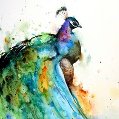 Oregon-based artist Dean Crouser, a lifelong artist that specializes in the watercolor medium, creates these fantastic watercolor paintings of animals. Description from 4rtgallery.blogspot.co.uk. I searched for this on bing.com/images