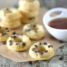 Mini Chocolate Chip Doughnut Pancake Dippers at laurenslatest.com
