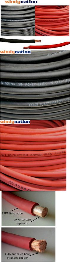 Other Electrical and Solar 3188: 6 Awg Gauge Red Marine Tinned ...