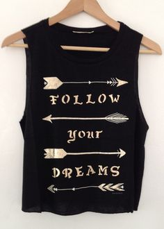 arrows black muscle shirt