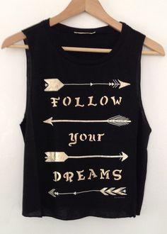arrows black muscle shirt