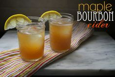 Saying yes to bourbon this holiday season.     maple bourbon cider by shutterbean, via Flickr