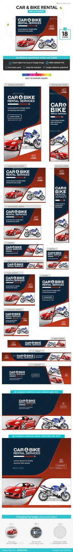Car and Bike Rental Banners