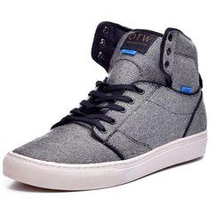 Vans OTW Men's Wool Twill Hi Top Skateboard Shoes