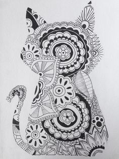 Love this cat #zentangle | Tumblr