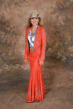 Miss Rodeo Oregon wearing Jan Faulkner Leather  Design