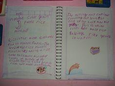 Waldorf ~ 3rd grade ~ Garden & Farm ~ Grains: Rice on Monday ~ main lesson book ~ A Grain Of Rice blog post ~ http://dkjsv05.wordpress.com/2010/01/19/a-grain-of-rice/