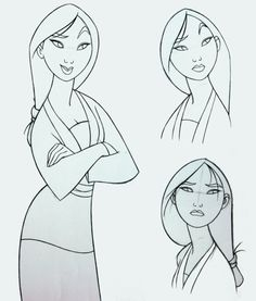 Mulan Concept Sketches