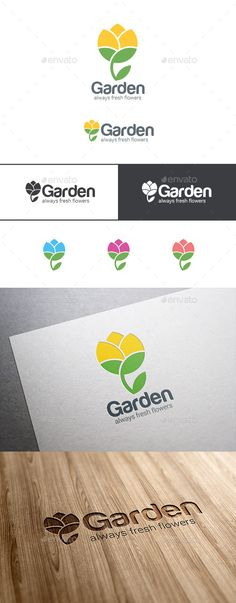 Flower Abstract Garden - Logo Design Template Vector #logotype Download it here: http://graphicriver.net/item/flower-logo-abstract-garden/9524995?s_rank=1579?ref=nexion