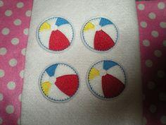 Machine Embroidered Hand made 4 Felt Beach by HeartFeltCreation, $3.40