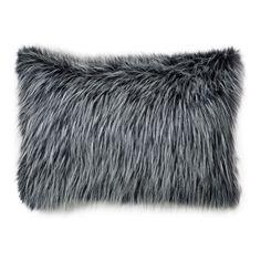 Ebony Fox Faux Fur Pillow