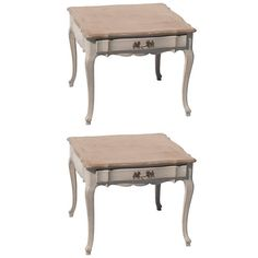 Pair of Louis XV Style Low Side Tables | From a unique collection of antique and modern end tables at https://www.1stdibs.com/furniture/tables/end-tables/