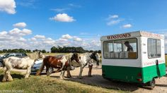 Hot horses wanting Ice Cream!  Winstones ice cream van parked up on Minchinhampton Common, near Stroud, in England's beautiful rolling Cotswolds.  By TG member Mac