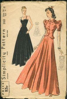 Vintage Fashion Library - Art Deco 1930s