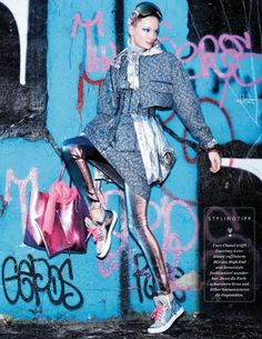 Die Neue Dynamik | Elle Germany August 2014 | Maud Wélzen by Pasquale Abbattista  [Editorial]