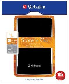 """Verbatim 53023 Store 'n' Go Disque dur externe portable 2,5"""" 1 TO USB 3.0 Noir VERBATIM https://www.amazon.fr/dp/B005YW44MY/ref=cm_sw_r_pi_dp_zm6dxbHPEMY1Q"""