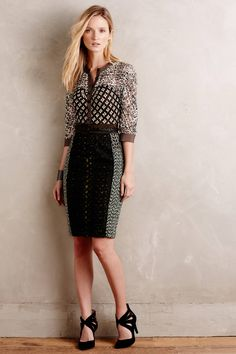 To keep, or not to keep, that is the question? Melodist Pencil Dress - anthropologie.com