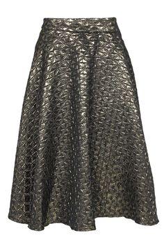 Viola Metallic Jacquard Midi Skirt alternative image