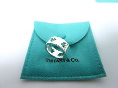 Tiffany-Co-Silver-Nature-Tulip-Flower-Stencil-Cut-Out-Ring-Band-Size-6-Rare