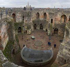Inside of Clifford's Tower today, york