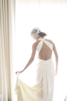 Low back vintage wedding dress - Molly and Nick's Regatta Place Wedding | The Newport Bride