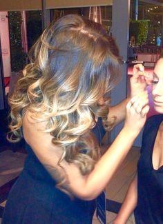 Blonde Ombré with Curls, big hair, volume hair, sexy curls, sexy hair, Victoria secret hair, blonde ombré, natural base color, ashy blonde ombré, downdos, rock me up cosmetics, Britney Moya