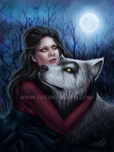 8x10 Lupa - lycan werewolf vampire gothic fantasy art print via Etsy