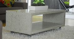 Our love of concrete has developed from the starkness of the backyard slab, to becoming part of our every day with polished concrete flooring!   The latest trends include concrete bench-tops!   However, what about a concrete coffee table?!   Fancy building one yourself!