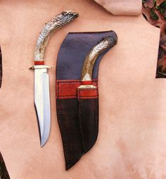 Antler knife and sheath from lionheart leather