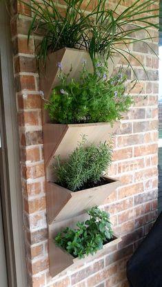 Wall Planter Box   Herb Garden Planter   4 Tier Vertical Garden Planter   Large Planter Box Ou #ContainerGardening