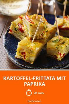 Kartoffel-Frittata mit Paprika - smarter - Zeit: 20 Min. | eatsmarter.de