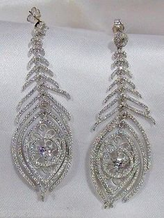 Chandelier Earring 925 Silver Cubic Zirconia for Women Beautiful Gift Genuine!!!