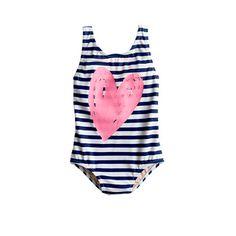 Baby tank swimsuit in stripe heart | J.Crew | Kids Fashion